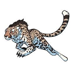 Giant Cheetah Sticker by Panimated