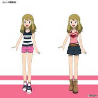 PKMN V - Serena Summer Casual Outfit Designs by Blue90