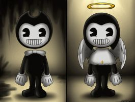 Bendy and Andy - Fanart (Gif) by OkumuraJaqueline