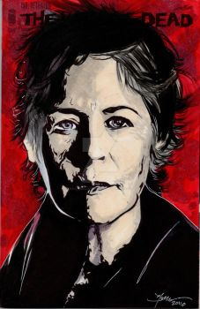 Walking Dead Carol Hand Drawn Sketch Cover by sullivanillustration
