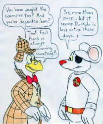 Danger Mouse and Von Goosewing by Jose-Ramiro
