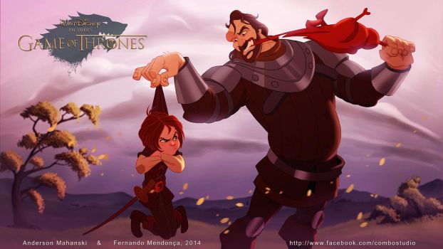 Arya Stark And The Hound - Disney Got Collection by nandomendonssa