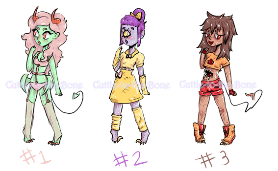 [5 point ADOPT]  Monster girls  [CLOSED] by Cuttle-to-the-Bone