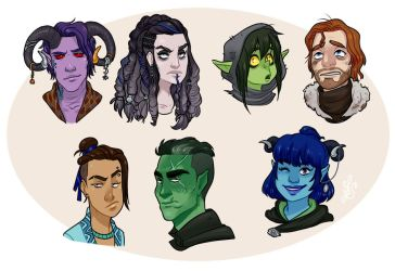 Critical Role.The Mighty Nein by Quackamos