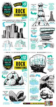 How to draw ROCK FORMATIONS BOULDERS ENVIRONMENTS by STUDIOBLINKTWICE