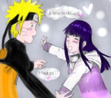 NaruHina: Hug Me -colored- by Kiitsi