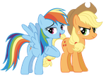 More Applejack and Rainbow by Are-you-jealous