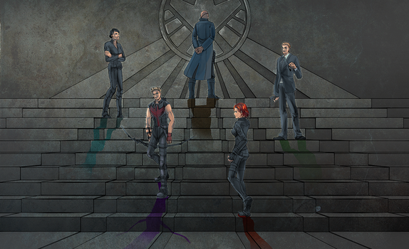 S.H.I.E.L.D Agents and Director by ayhy