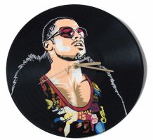 Fight Club Tyler Durden vinyl record clock by vantidus