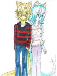 CS James and Mitsukai by Philosophy-in-Blue