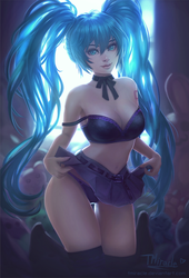 Miku Pin-up by TMiracle
