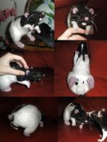 :Needle Felted Rat Stumpy: by Kinky-chichi