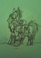 Fallout Ghoul Pony - G A B by MissingMonsters