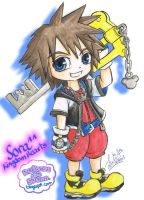 Chibi Sora (watercolor) by Lucia-95RduS