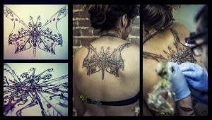 butterfly tattoo by RemiisMeltingDots