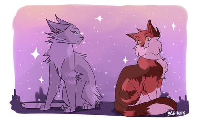 Needletail and Alderheart by BAE-MON