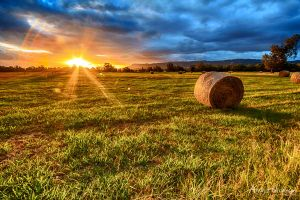 Sunset at the Lord family farm by andyhutchinson
