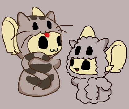Stormy and Pusheen X3 by Hapiness11