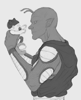 Piccolo and Baby Trunks sketch by ConceptCat