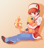 COMMISSION: Red and Charmander by SeviYummy