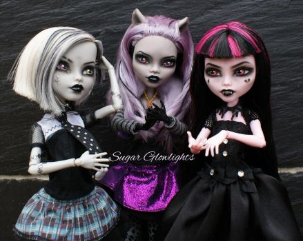 Monster High 13 Wishes shadow ghouls by sugar-glowlights