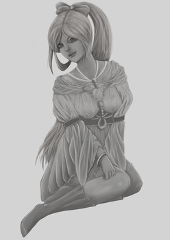 Grayscale Study by Anoop-K