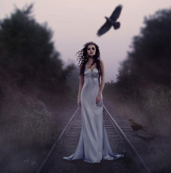 Woman and ravens by JohnSilva2017
