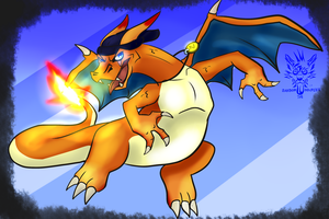 This wild Charizard is allergic to you by Randomthewolfskie