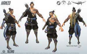 Hanzo - Overwatch - Close look at model by PlanK-69