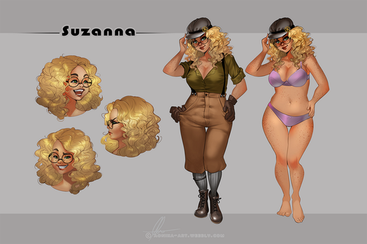 Suzanna - reference sheet by AonikaArt