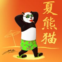 Summer Panda (Kung Fu Panda's chinese) by SAGADreams