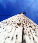 High upwards along a pole by wellgraphic