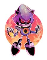 Metal Sonic (Colours) by Ziggyfin