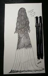 #Inktober Day 10 Flowing by mae-sagara-art