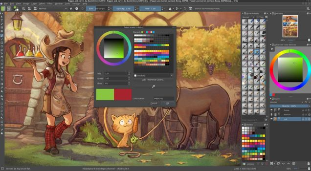 Palette for Krita by Deevad