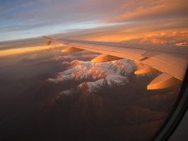 Flying through the mountains by Nahira