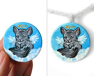 Chinchilla Angel Necklace by sobeyondthis