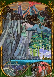 Gates of Argonath by breath-art