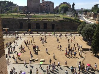 The view from outside the Colosseum by CaptainEdwardTeague