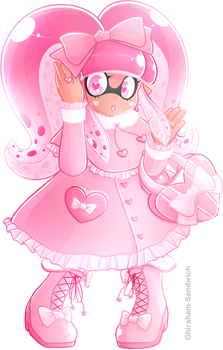 Pink Lolita Inkling by Ghiraham-Sandwich
