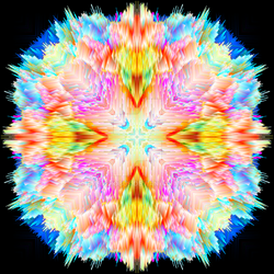 Day-Glo Electric City Mandala 3D by EyeOfHobus