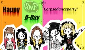 Happy B-Day Corpsedanceparty! by SomeMonsterFangirl