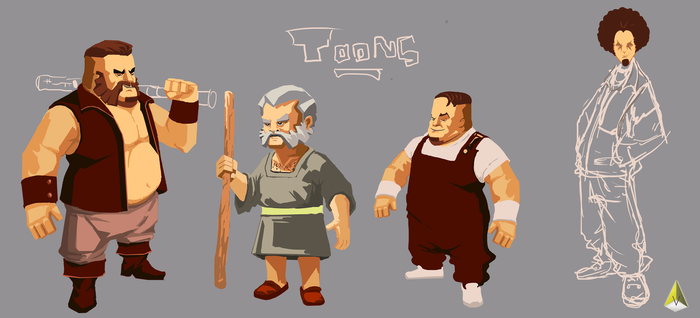 Toon-characters by vicky3