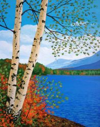 Early Autumn Birches by Landscapist
