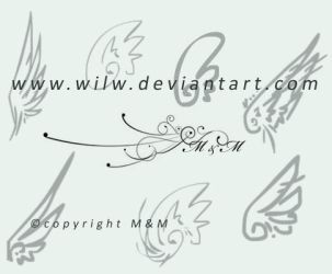 Wings Brushes by Meggie-M