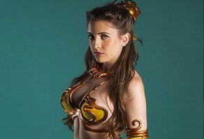 slave leia cosplay 7 by tethras