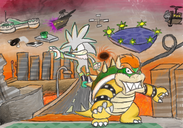Bowser in the Crisis Galaxy by RosalinaSama