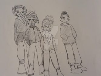 Character Height Sketch: Rebels by AnnieManga