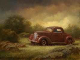 Backyard with a '36 Ford by PaulAbrams