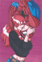 Spider-Man and Mary Jane- The Kiss by RobertMacQuarrie1